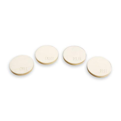 $20.95 Marble Coasters with Gold Edge ~ Set of 4