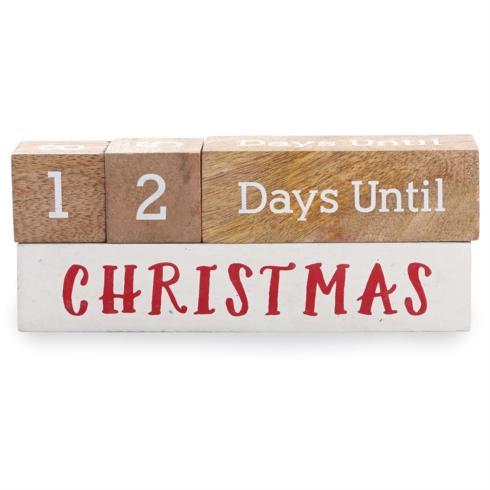 Mudpie   Holiday Countdown Blocks $18.95