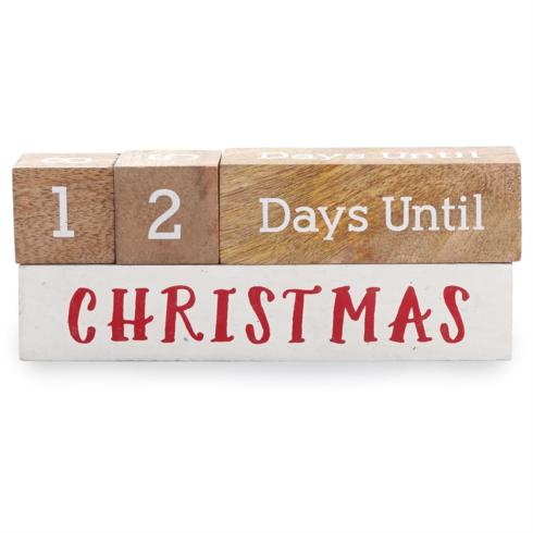 $18.95 Holiday Countdown Blocks