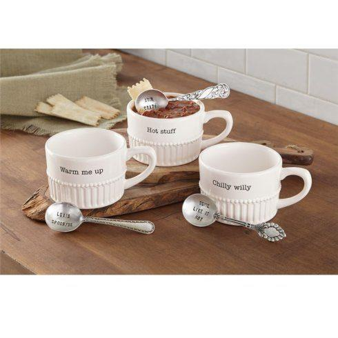 Mudpie   Chili/Soup Set with Spoon $22.95