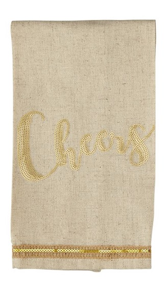 $8.95 Sequin Towel - Cheers