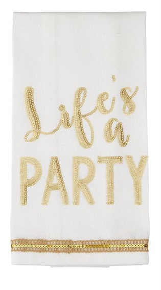 $8.95 Sequin Towel - Life\'s a Party