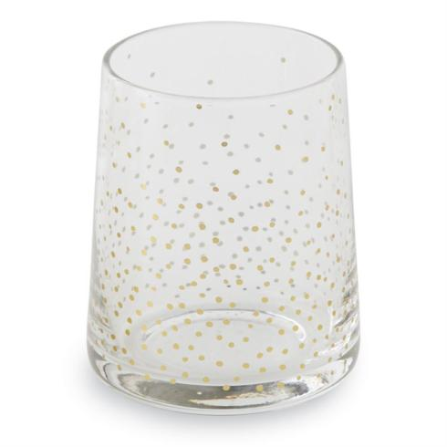 Mudpie   Double Old Fashioned Glass ~ Assorted Gold $10.95