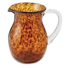 $33.95 Tortoise Glass Pitcher
