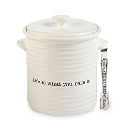$50.95 Ceramic Cookie Jar with Server