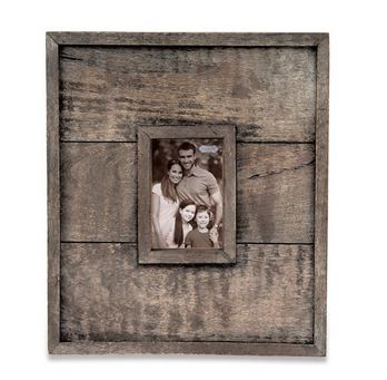 $56.95 Small Rectangular Planked Wood Wall Frame
