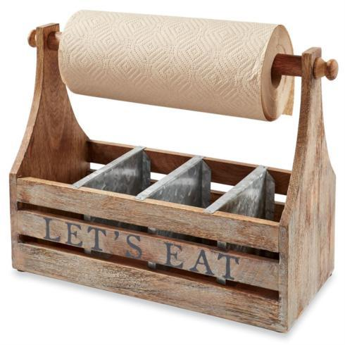 "$56.95 Towel Caddy ~ "" Let\'s Eat"""