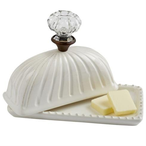 "$28.95 Ceramic "" Door Knob"" Butter Dish"