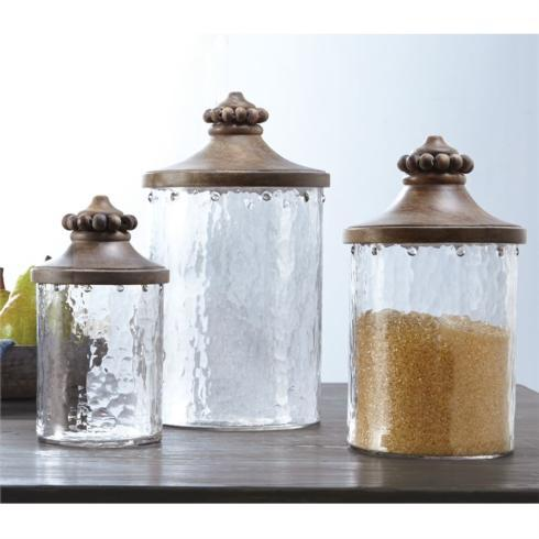 $32.95 Beaded Glass Medium Canister