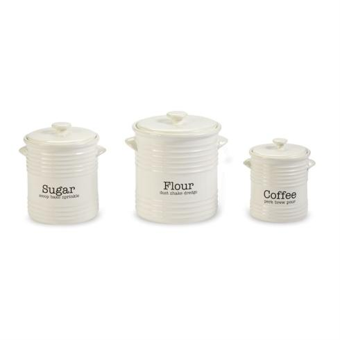 $84.95 Ribbed 3 Piece Canister Set