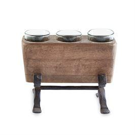 $31.95 Wooden Votive Holder
