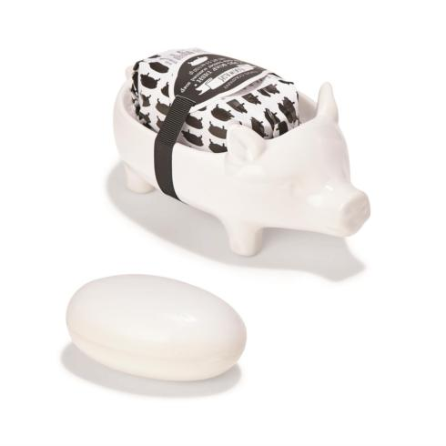 Two\'s Company   Pig Soap Dish with Bar Soap $17.95