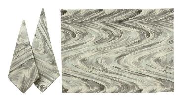 $12.95 Napkins ~ Brush Stroke ~ Gray/Mist