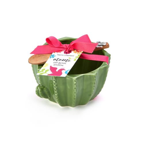 Two's Company   Cactus Bowl with Spoon Set $15.95
