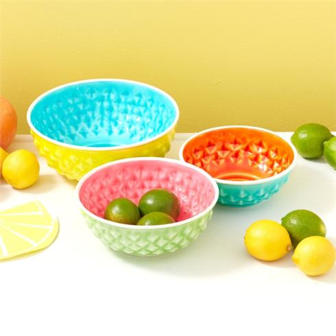 Two's Company   Large Metal Bowl ~ Yellow $20.95