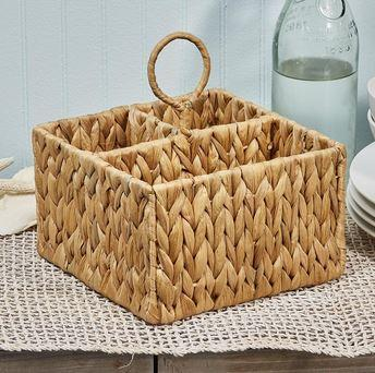 Two\'s Company   Water Hyacinth Caddy $30.00