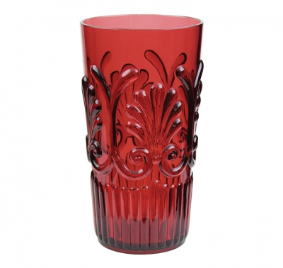 $10.95 Fleur Large Tumbler ~ Berry Red