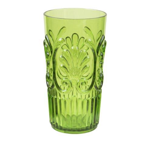 $10.95 Fleur Large Tumbler ~ Light Green