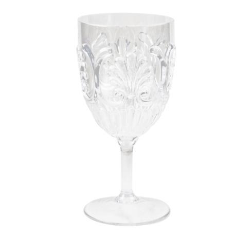 $9.95 Fleur Wine Glass ~ Clear