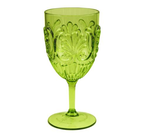 $9.95 Fleur Wine Glass ~ Light Green