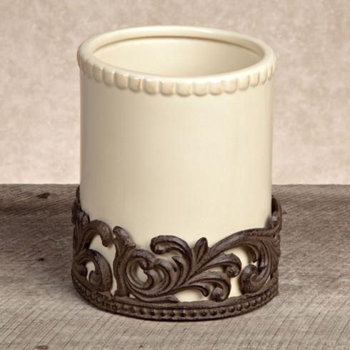 GG Collection   Ceramic Utensil Holder with Metal Base $76.95