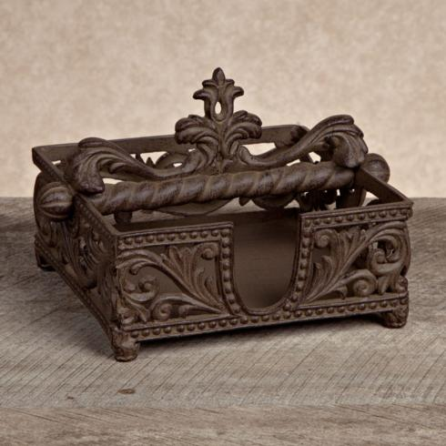 $64.95 Acanthus Leaf Square Metal Napkin Holder