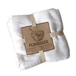 $13.95 Kitchen Towel Floursack ~ Set of 3 ~ White