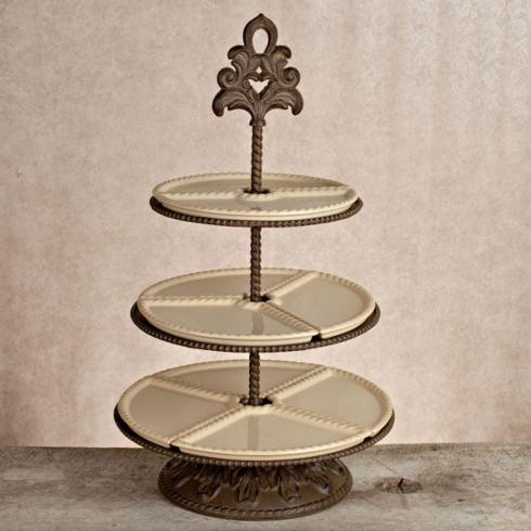 $405.95 Baroque Three Tiered Server ~ Cream