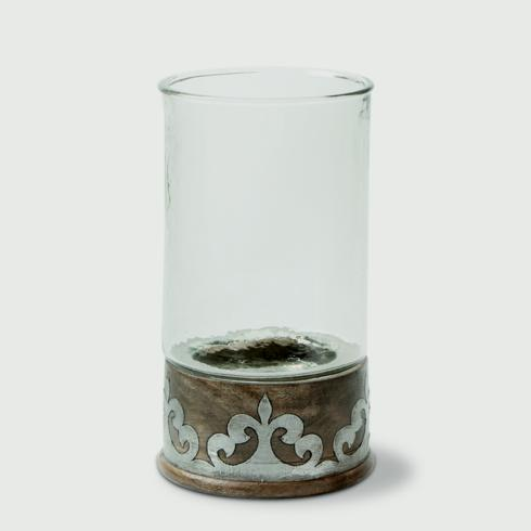 $85.95 Medium Candle Holder with Wood & Metal Inlay