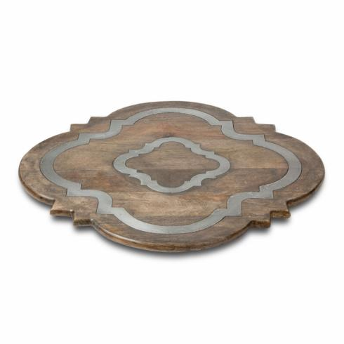 $198.95 Ogee-G Lazy Susan with Metal Inlay