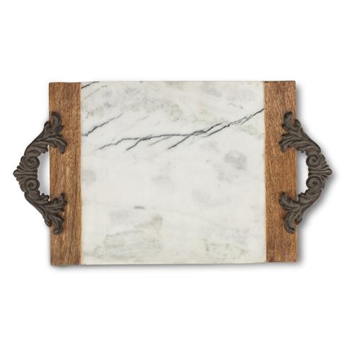$108.95 Large Marble and Mango Wood Cutting/Serving Board