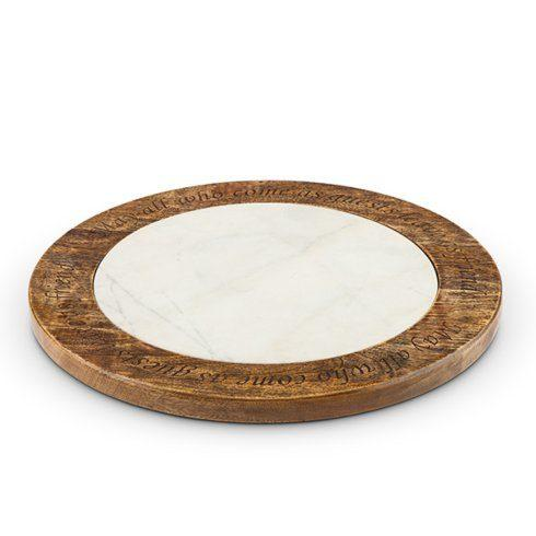 $153.95 Marble and Mango Wood Lazy Susan