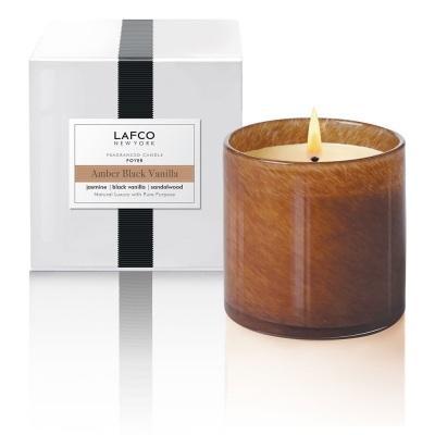 $67.95 Glass Candle ~ Amber Black Vanilla ~ Foyer