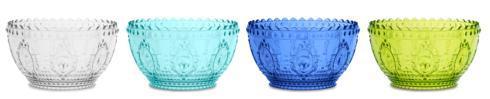 Le Cadeaux   Baroque & Rock Fruit Bowl ~ Set of 4 ~ Blue Series $74.95