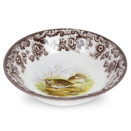 Hollyhocks Exclusives   Woodland Cereal Bowl ~ Assorted Birds $40.95