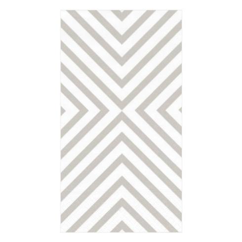 Caspari   Chevron Paper Guest Towel ~ Pale Silver $7.95