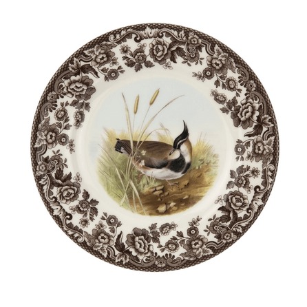 Hollyhocks Exclusives   Woodland Dinner Plate ~ Assorted Birds $41.95