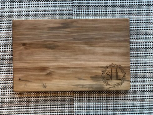 $56.00 Personalized Flat Grain Large Cutting Board