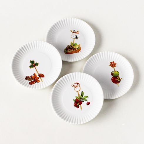 One Hundred 80º   Holiday Appetizer Plates ~ Set of 4 $14.95