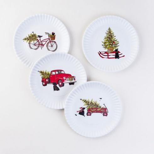 "$19.95 Christmas ""Paper"" Plates ~ Set of 4"