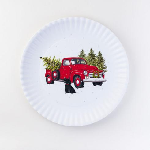 One Hundred 80º   Holiday Platter ~ Red Truck $22.95
