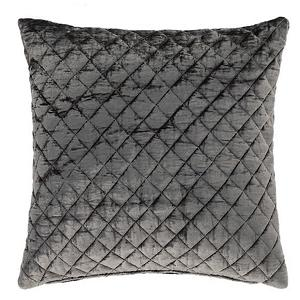 $125.00 Patina Velvet Decorative Pillow ~ Grey