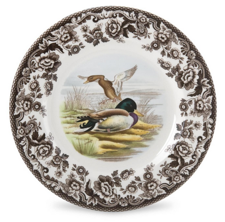Hollyhocks Exclusives   Woodland Salad Plate ~ Assorted Birds $29.95