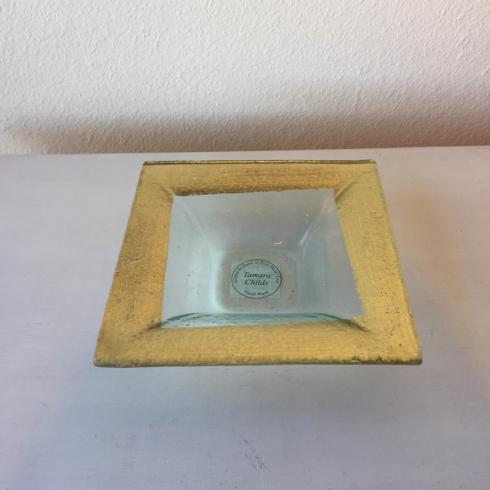 $33.95 Square Bowl ~ Gold Slash