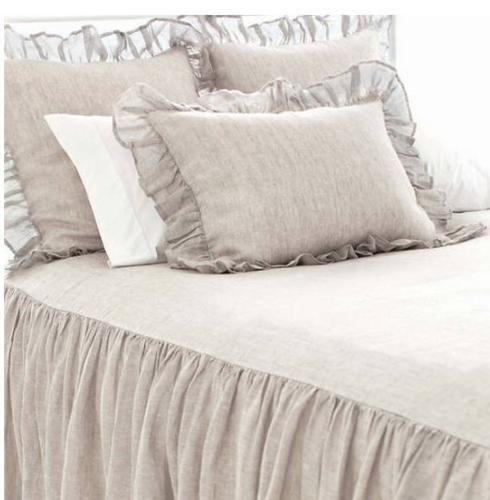 $94.00 Savannah Linen Chambray European Sham ~ Dove Grey