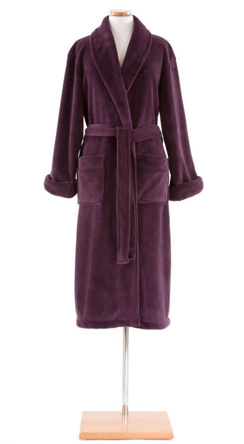 $92.00 Sheepy Fleece Robe ~ Plum