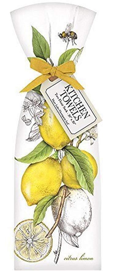 $19.95 Towel Set of 2 ~ Botanical Lemons