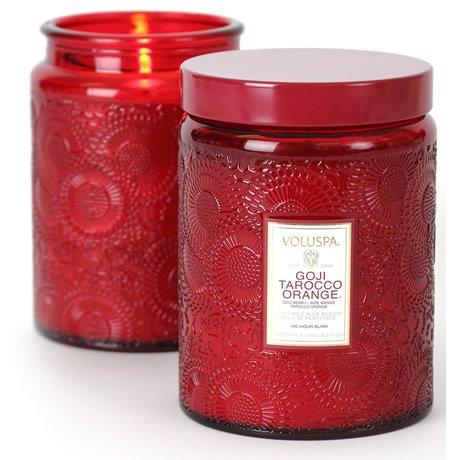 Voluspa   Large Glass Jar ~ Goji & Tarocco Orange $27.95