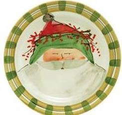 Hollyhocks Exclusives   Old St. Nick Dinner Plate ~ Green Hat $58.00