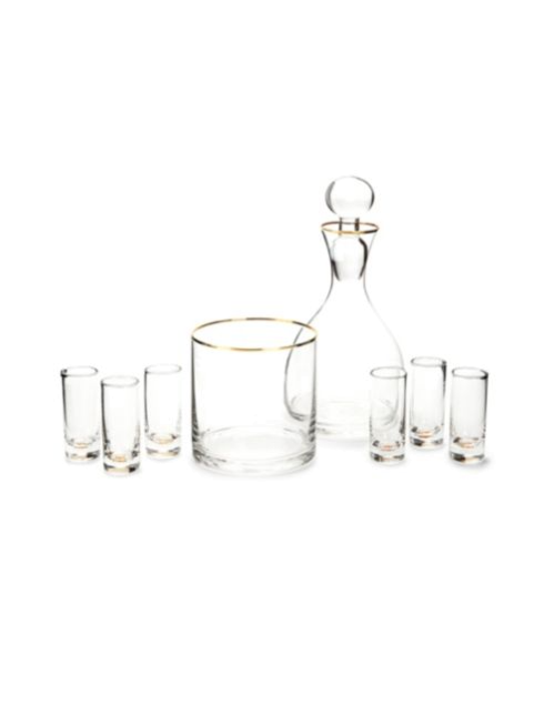 $84.95 Vodka Spirits Set ~ Set of 9 ~ Gold